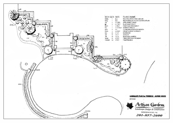 Landscape Architectual Drawings - Saddle River, NJ